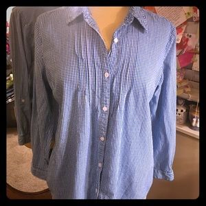 Tops - Royal Blue Plaid Blouse
